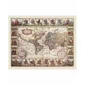 carte ancienne avec illustrations zoffoli art3111