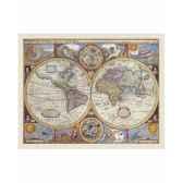 carte avec cartographie et illustrations d epoque zoffoli art3231