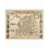 carte de europe en parchemin vieilli zoffoli art3351
