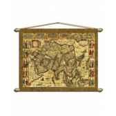 carte de asie en parchemin vieilli zoffoli art3521