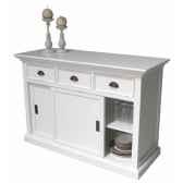 buffet de cuisine avec portes coulissantes collection halifax nova solo b130