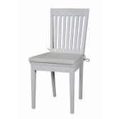 lot de deux chaises blanches avec coussin collection halifax nova solo hc3c