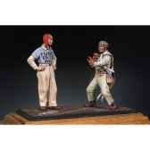 figurine kit a peindre pilote de aeronavale et officier de pont s5 s4