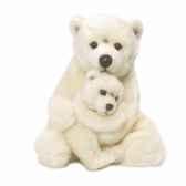 wwf maman ours polaire 28 cm avec bebe 15 187 007