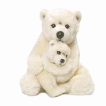 Wwf maman ours polaire 28 cm, avec bébé -15 187 007
