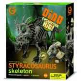 gw dino excav kit styracosaurus 26cm geoworld cl172k