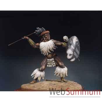 Figurine - Kit à peindre Guerrier zoulou  Isandlwana en 1879 - S8-F12