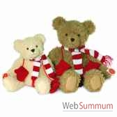 teddy beige with muffler and gloves 35 cm hermann 91344 3