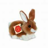 lapin assis marron 15 cm hermann 93768 5