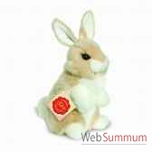 lapin assis beige 16 cm hermann 93770 8