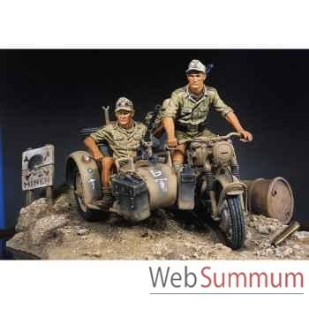 Figurine - Kit à peindre Afrikakorps BMW-R75 - S8-S01