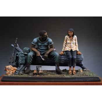 Figurine - Kit à peindre Repas dans la jungle  Vietnam en 1970 - SG-S01