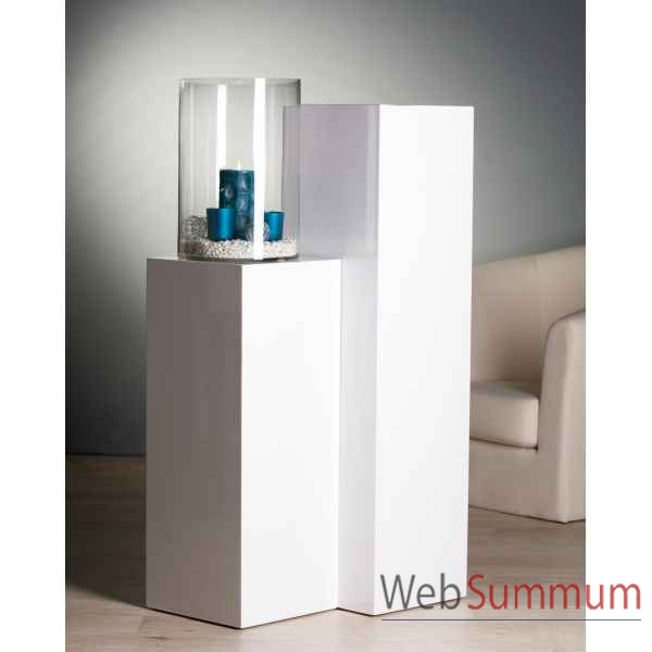 Colonne mdf blanc laqu 100 cm casablanca design 51558 for Cuisine mdf laque