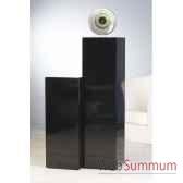 colonne mdf noir laque 100 cm casablanca design 51560
