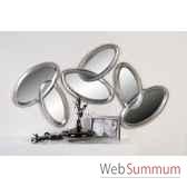 miroir combine bois verre casablanca design 51761