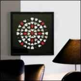 peinture murale hearts bois verre metacasablanca design 51763