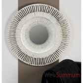 miroir radius bois verre blanc argent casablanca design 51959
