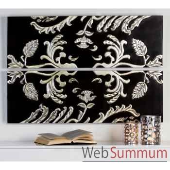 """Peinture \""""various\"""" bois noir argent Casablanca Design -51961"""