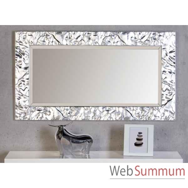 Miroir factory mat argent casablanca design 54590 for Miroir fantaisie design
