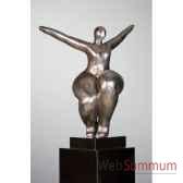 sculpture woman antique argent casablanca design 59316