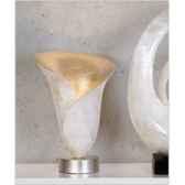 lampe de table blossom blanc argent casablanca design 59426