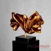 poly sculpture silk bronze noir casablanca design 59733