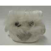 colonne en bois argent gris 70 cm casablanca design 71042