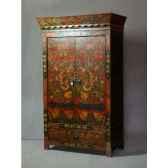 cube mdf noir laque 30 cm casablanca design 71098