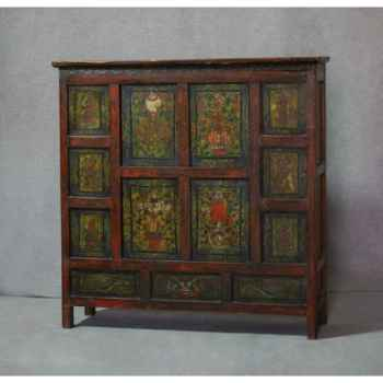 Colonne mdf noir laqué 70 cm Casablanca Design -71099