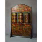 miroir capri bois verre antique argent casablanca design 71263