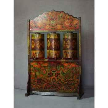 """Miroir \""""capri\"""" bois verre antique argent Casablanca Design -71263"""