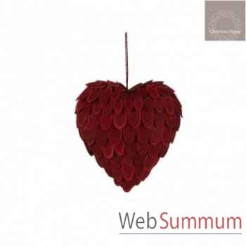 Ornement coeur l20 rouge -105284