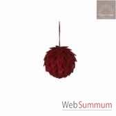 ornement boule d12 rouge 105288