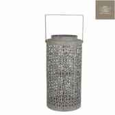 lanterne lacy h38d18 gris c132711