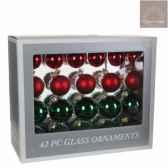 s42 boule l39l17h32 verre rouge vert 165959