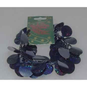 Figurine le cheval noir harnachement bleu -65709