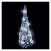 pyramide cristal105l105h395led blanc 20371485