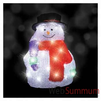 Bonhomme de neige h40 led blanc 60l -371783