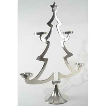 Arbre aluminium pour 4 bougies nickel Kaemingk -391578