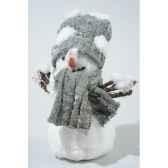 bonhomme neige mousse avec echarpe avec tete avec neige kaemingk 455622