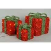 boite cadeau blanche a noeud vert kaemingk 480896