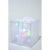 led boite cadeau holograme pvc kaemingk 481155