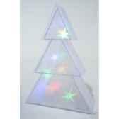 led sapin holograme pvc 60 cm kaemingk 481159