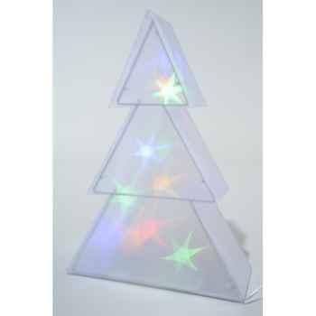 Led sapin holograme pvc 75 cm Kaemingk -481160