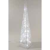 pyramide acrylique led kaemingk 491953