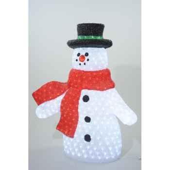 Led bonhomme neige acryl Kaemingk -492030
