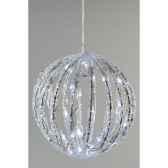 boule acrylique led kaemingk 492031