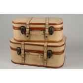 valise en cuir synthetiquea details en bois kaemingk 512769
