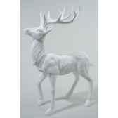 renne polystyrene debout paillettes avec diamant kaemingk 533853