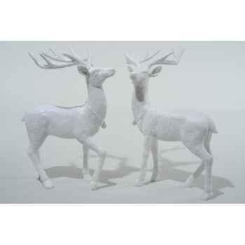 Renne polystyrene debout paillettes diamant Kaemingk -533854